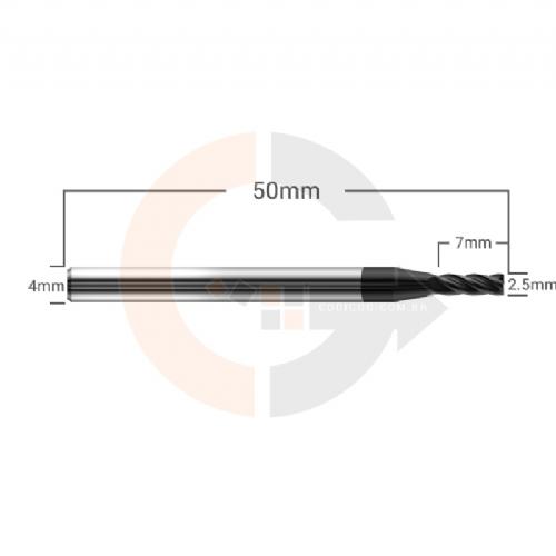 Fresa_Topo_4_Cortes_HRC45_2.5mm_x_7mm_cobertura_AlTin