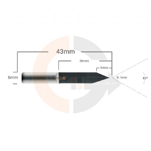Fresa_de_Gravacao_Flat_45_graus__x_0.1mm_haste_6mm_Metal_Duro