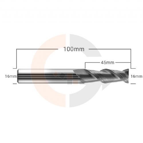 Fresa_Para_Aluminio_2_Cortes_HRC55_16mm_x_45mm