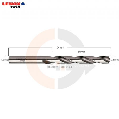 Broca_aco_rapido_HSS_7.5mm_Lenox_Twill_TW104