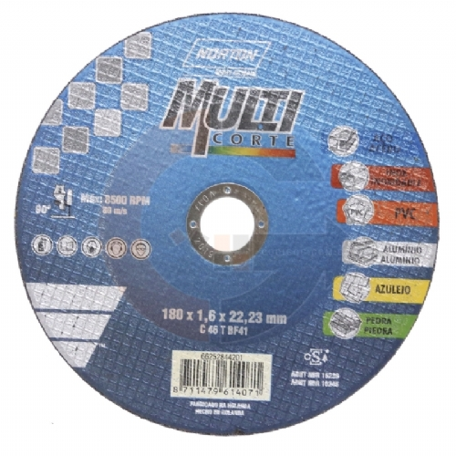 Disco de corte Multicorte 7 pol. x 1.6mm Norton